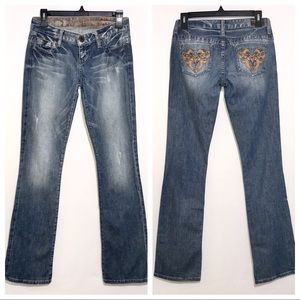 Vintage Guess Leather Stud Pocket Jeans 26